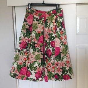 Eliza J Tea Length Pleated skirt